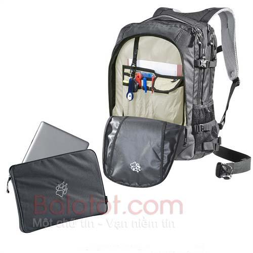 Ba lô laptop jack wolfskin j-pack deluxe chính hãng màu đen