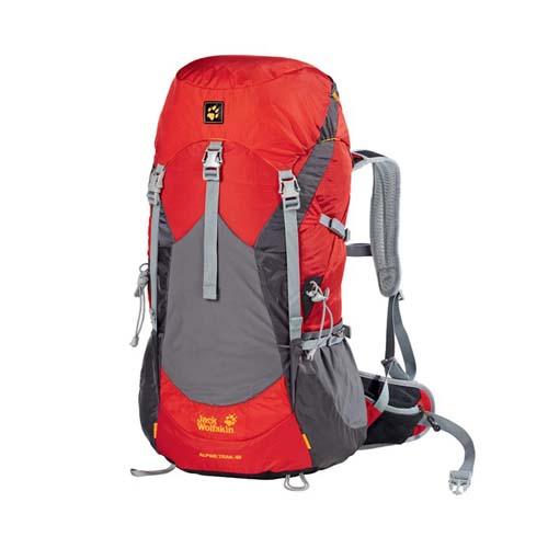 Balo leo núi Jack Wolfskin Alpine Trail 40 màu đỏ mã BJ147