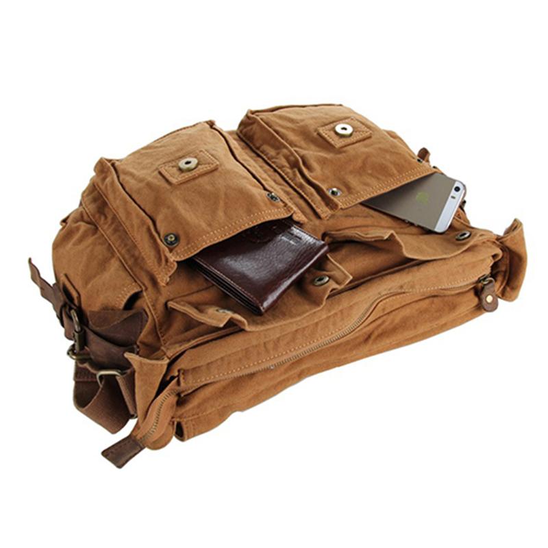 Túi đeo chéo phối da