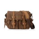Túi đeo chéo phối da bò màu cafe mã TD348