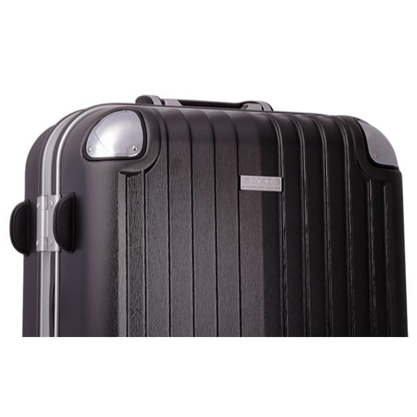 Vali kéo Sakos Nhựa Khung Nhôm SAPPHIRE A26 màu đen mã VK490 8