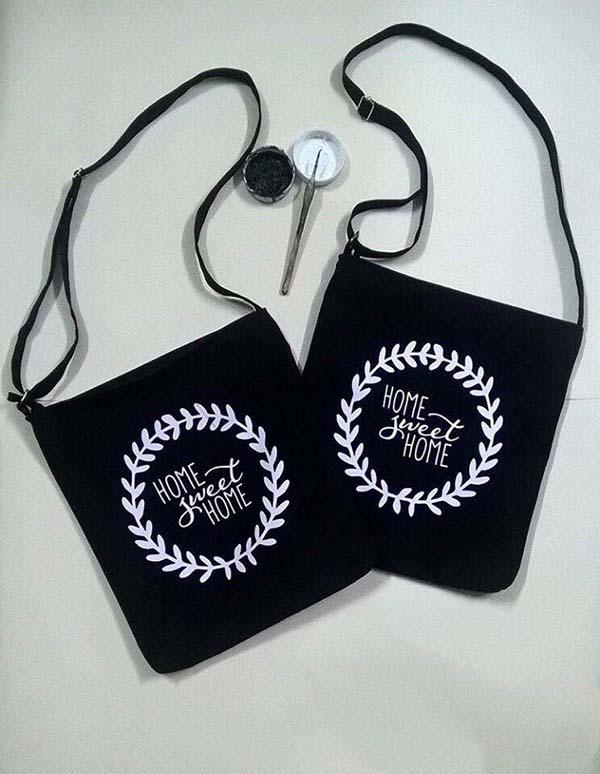 Túi Tote vải bố đeo chéo Đẹp Mã TD553