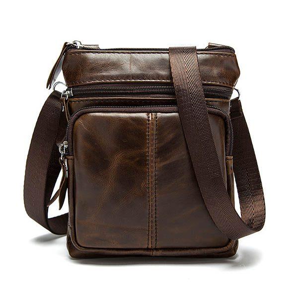 Túi đeo chéo da thật mini LEISURE mã TD574 1