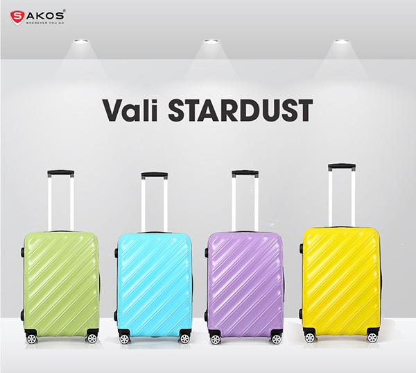 Vali Sakos Stardust - z26 màu Xanh Dương mã VK587 16