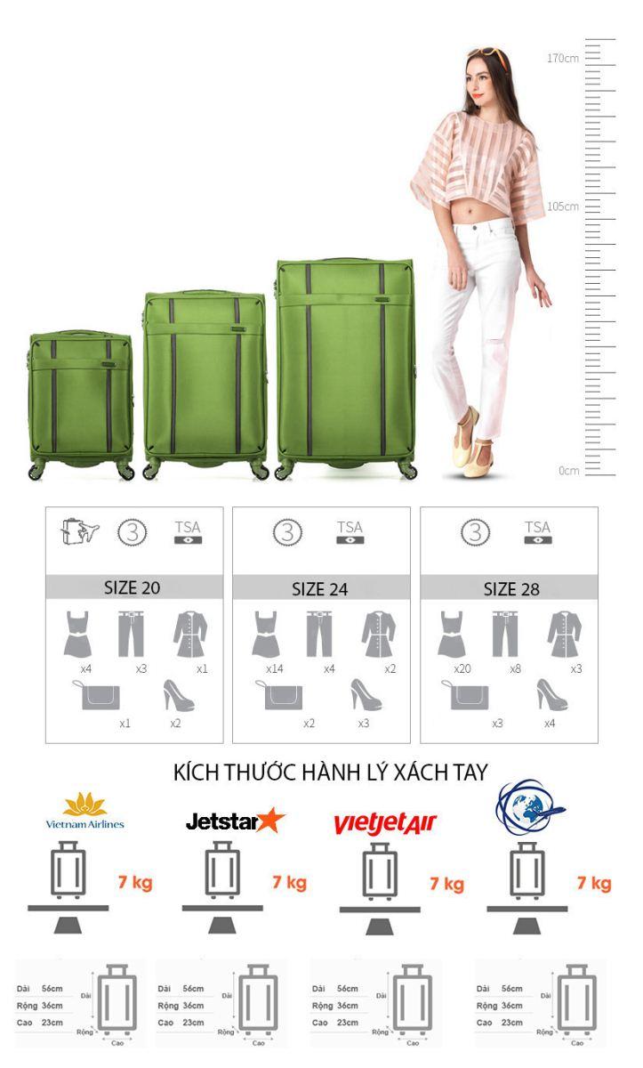 Cách chọn vali kéo chuẩn xách tay lên máy bay, nhỏ gọn, nhẹ ? 2