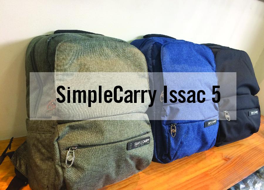 Balo laptop SimpleCarry Issac 5 - Trượt nước, chống thấm siêu tiện dụng 1