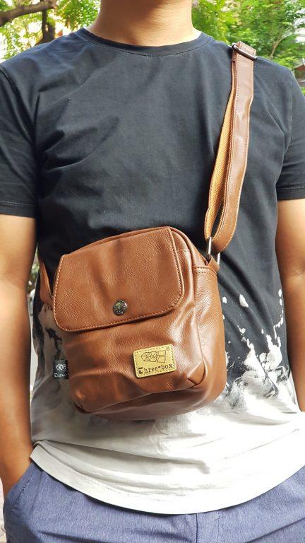 Túi đeo chéo da Three box 13 item hot hit nhà balotot.com 5