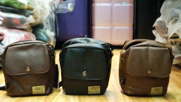 Túi đeo chéo da Three box 13 item hot hit nhà balotot.com 2