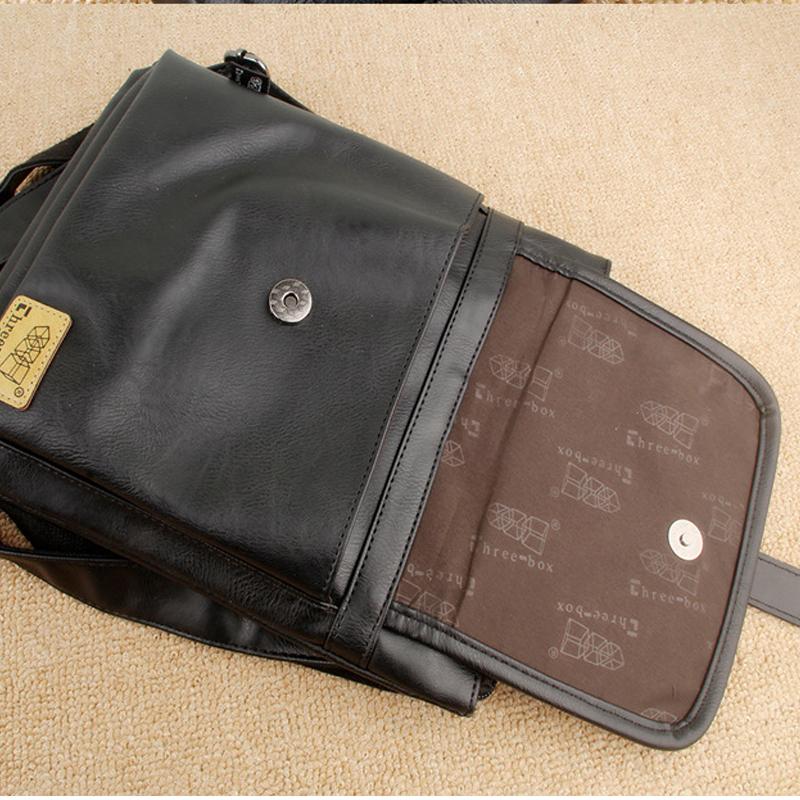 Túi đeo chéo da three-box 18 mã TD847 12