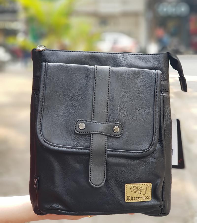 Túi đeo chéo da three-box 18