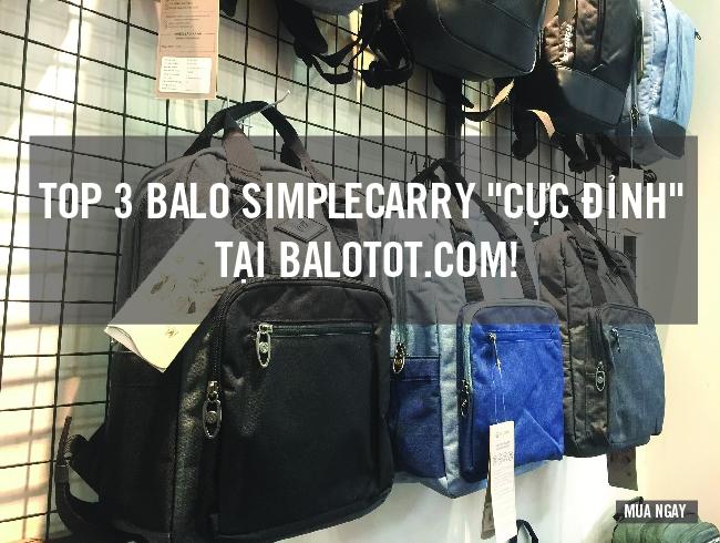 "Top 3 balo SimpleCarry ""cực đỉnh"" tại Balotot.com 1"
