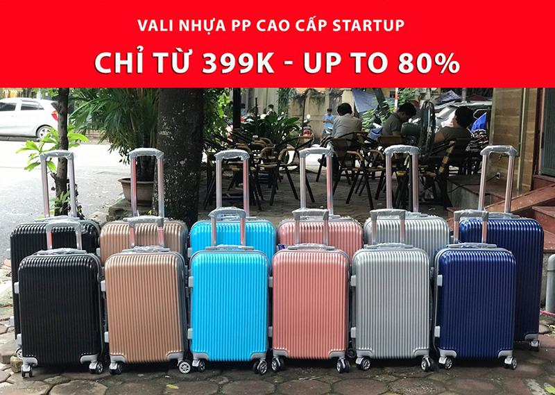 Vali kéo nhựa StartUp VLN-806 Size Ký Gửi 24 8