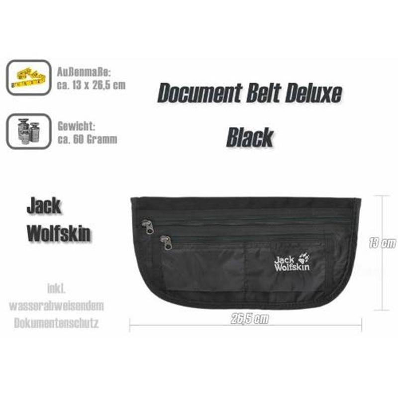 Túi bao tử Jack Wolfskin Document Belt De Luxe Black Mã TJ919 8
